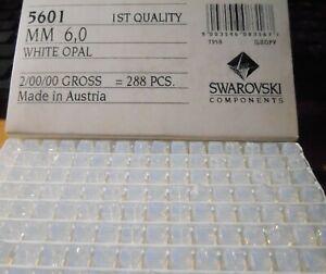 36 Pcs  Swarovski 6mm 5601 WHITE OPAL Crystal Cube Beads USA Seller