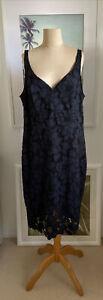 Gorgeous Ladies Navy Dress By Portmans - Size 16