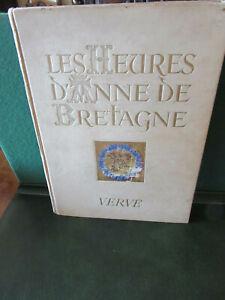 REVUE ARTISTIQUE LES HEURES D'ANNE DE BRETAGNE  VERVE BOURDICHON 1946