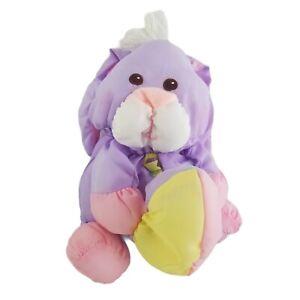 Vintage Fisher Price Puffalump Purple Easter Bunny Plush Stuffed Animal Toy Egg