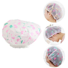 Hair Salon Bath Hat Women Hair Cover Shower Cap Elastic Spa Bathing Cap