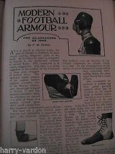 American Gridiron CALCIO IN ARMOUR Antico Edward ILLUSTRATO articolo 1903