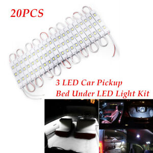 20* 3LED Car Pickup Bed Under LED Light Reading Light Kit Universal  Accessories
