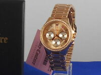 Juicy Couture Rose Goldtone Stainless GWEN Crystal Multi Function Watch $275