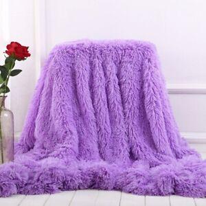 Blanket Super Soft Long Shaggy Fuzzy Fur Faux Fur Warm Elegant Cozy Soft Blanket