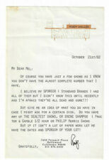 Rudy Vallee TWO Signed Letters 1982 / Autographed