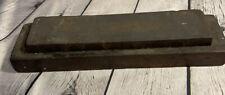 Antique Hard Arkansas Sharpening Stone on Wood Block