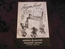 Frozen Foods How to Prepare Package Freeze & Cook General Electric Vintage Bulle