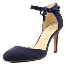 Zapatos de tacón de mujer de color principal azul de ante