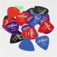 Lots of 20pcs 0.81mm Smooth Alice Coloured Celluloid Nylon Medium Guitar Picks