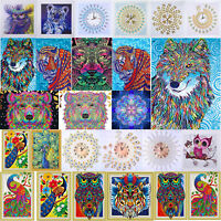 5D DIY Special Shaped Diamond Painting Lion Cross Stitch Embroidery Mosaic Decor
