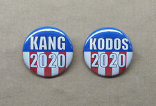 "KANG 2020 & KODOS 2020 Button Set 1.25"" Simpsons Alien Humor Treehouse Horror"