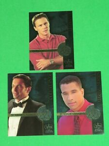 2003 Charmed: The Power of Three TV SHOW BOXLOADER INSERT 3 FOIL CARD SET! BOYS!