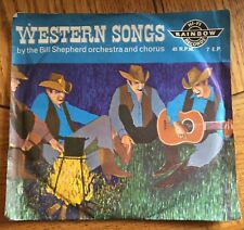 "Bill Shepherd Orchestra and Chorus - Western Songs UK 1962 Blue Vinyl 7"" E.P."