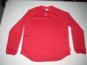 ST. LOUIS CARDINALS BOY'S MAJESTIC RED THERMA BASE SWEATSHIRT SIZE XL