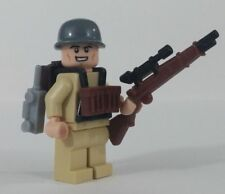 LEGO Custom WW2 US Army Sniper Soldier Minifigure Brickarms Weapons
