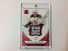 2015-16 The Cup Hockey Red Foil PATRICE BERGERON Tag Patch 4 / 4