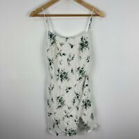 Alice In The Eve Womens Dress XS White Floral Sleeveless Scoop Neck Zip Closure