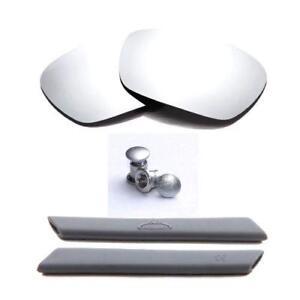 Walleva Polarized Titanium Lenses And Rubber/Bolts Kit For Oakley Racing Jacket