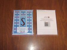 """New 2 Pkgs.=12 Blank Notecards & Envelopes - Red Foil Initial """"S""""- STUDIO 18"""