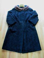 Vintage 1950'S Persian Lamb SWING Coat L/XL MINK Collar Rockabilly Pin-Up