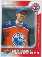 2016 UD National Hockey Card Day Connor McDavid CAN-16 Memorable Moments
