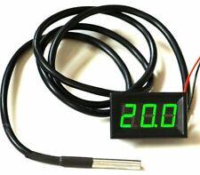 LED Thermometer -30°+125°C klein 12V Temperaturanzeige sehr genau, Einbau DS
