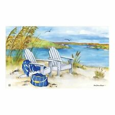 "Beach Chairs Waterside Welcome Floor Mat 18"" x 30"" MatMates 11349"