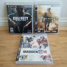 Call of Duty: Black Ops & Modern Warfare 2 & Madden 10 - 3 PS3 Games Lot
