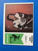 John French 1974-75 O-Pee-Chee OPC WHA Hockey Card #33 New England Whalers