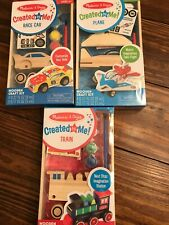Melissa & Doug Created by Me! Train/Plane & Car Wooden Craft Kits