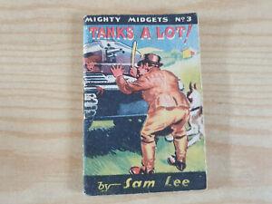 MIGHTY MIDGETS No. 3 Tanks a Lot! - 1940s booklet - WW2