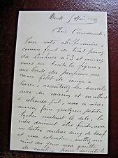 RENE ALEXANDRE Autographe Signé 1908ACTEUR COMEDIE-FRANCAISE CONSEILS MAQUILLAGE