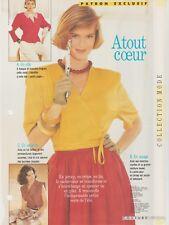 patron couture Avantages N°6  Veste cache-coeur  38 - 42 - 46