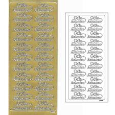 Zierstickerbogen Konturensticker Sticker Hochzeit Wir heiraten Gold 045