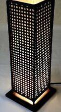 Table Lamp Asian Oriental Wooden Bamboo/Rattan Table Bedroom Home Decor Lamp