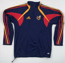 adidas spain rfef pullover warm up climacool soccer shirt jacket sz men's small