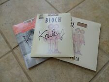 NEW! LOT OF 3 CAPEZIO BLOCH CARMEL TAN STIRRUP FOOTED TIGHTS DANCE girls 6-12