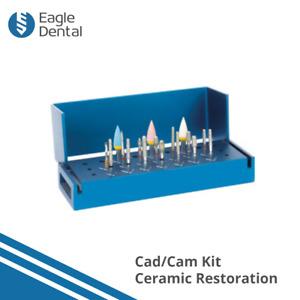Cad/Cam Dental Kit - All Ceramic Surfaces Restoration Kit Diamond Burs & Crown
