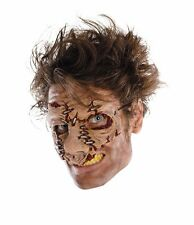 Halloween Dead Cracked Skin Mask Creepy Face Zombie Monster Stitches Costume NEW