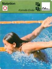2. FICHE CARD: Kornelia Ender RDA  Nage libre Papillon  Freestyle SWIMMING 1970s