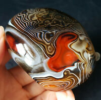 TOP 134.7G Natural Polished Banded Agate Crystal Madagascar Healing WA178