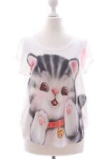 TP-16 Moe Tiger Cat cute Print Short Sleeve T-Shirt Lolita Harajuku Japanese