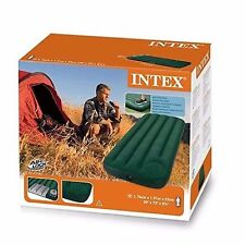 Intex Junior Airbed Twin Outdoor Camping Downy With Built-in FootPump NEW