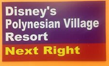 "Walt Disney World Road Sign Inspired Magnet 2"" X 3.5"" Disney's Polynesian Villag"