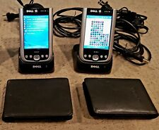 2 - Dell Axim X51 Pocket PCs Windows Mobile +cases and docks, clean screens