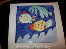 """Sintopress Decorative Ceramic Tile Sea Design Fish Italy 8"""" Trivit"""