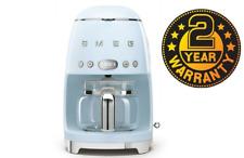 Smeg DCF02PBUK Pastel Blue 50s Retro Filter Coffee Machine + 2 Year Warranty