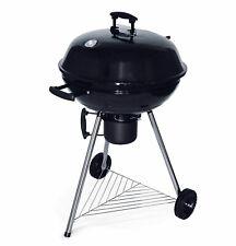 Barbecue Charbon de Bois Ø 57 cm Boule Noir Emaillé Fumoir Récupérateur Cendres