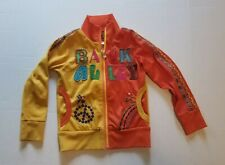 Kids Vibrant Psychedelic Yellow Zip Up Jacket Size 4/5 Brand Back Alley